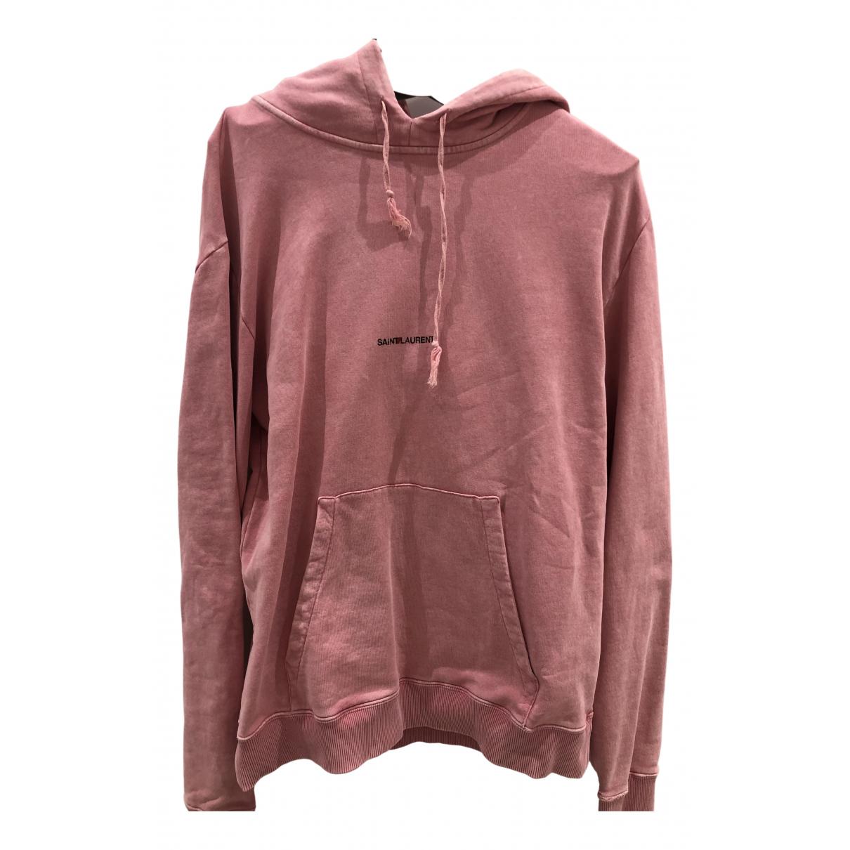 Saint Laurent \N Pullover.Westen.Sweatshirts  in  Rosa Baumwolle