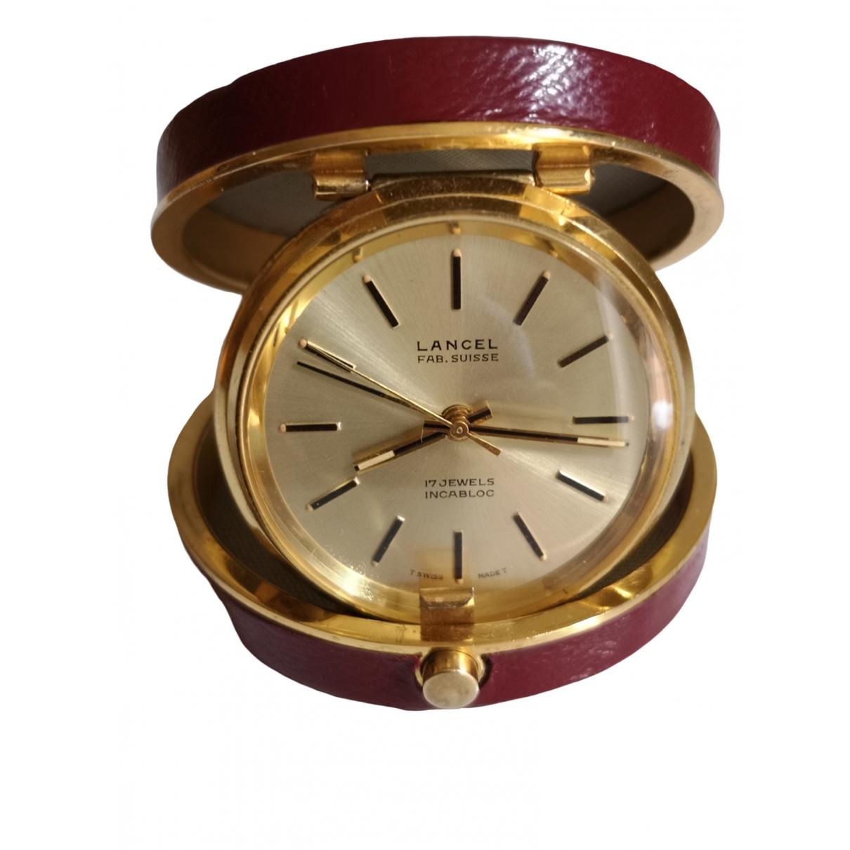 Lancel \N Uhr in  Bordeauxrot Vergoldet