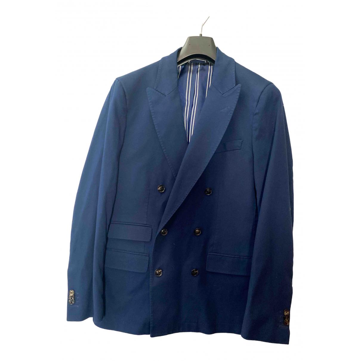 Gant \N Blue Cotton jacket  for Men 46 FR