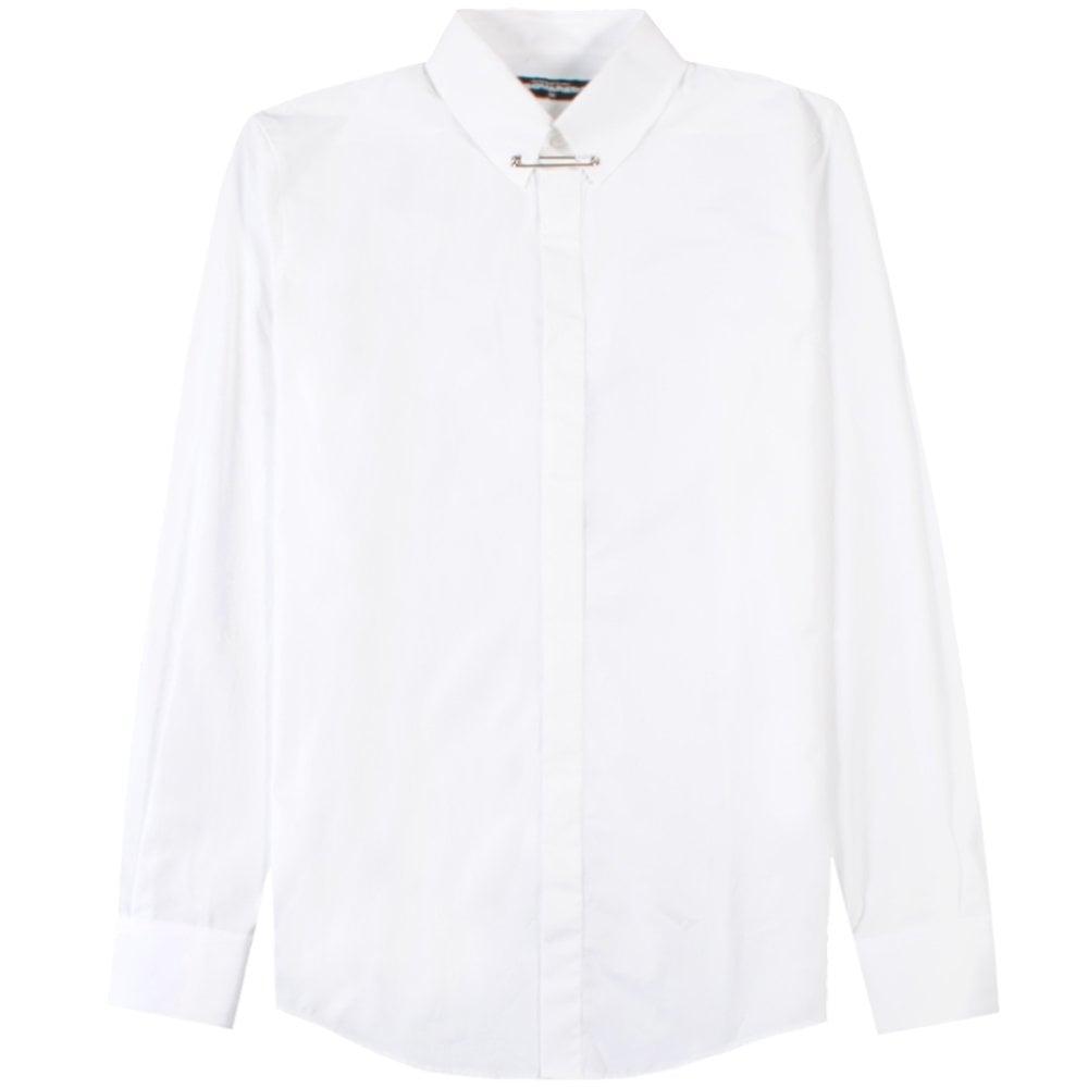 Dsquared2 Collar Clip Shirt White Colour: WHITE, Size: MEDIUM