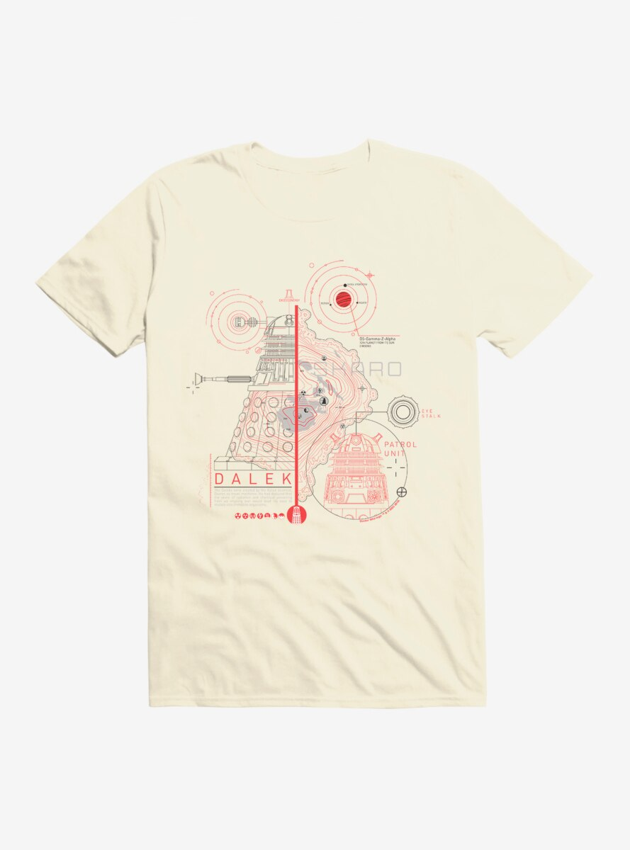 Doctor Who Dalek Plans T-Shirt