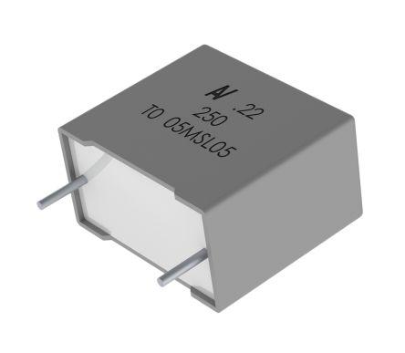 KEMET 1.5μF Polyester Capacitor PET 90 V ac, 160 V dc ±5%, Through Hole (5)
