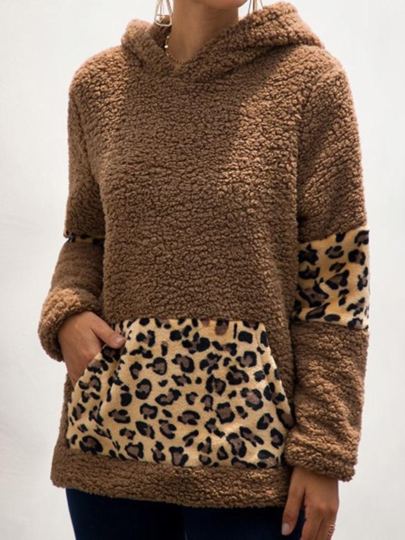 Ericdress Regular Leopard Fall Hooded Hoodie