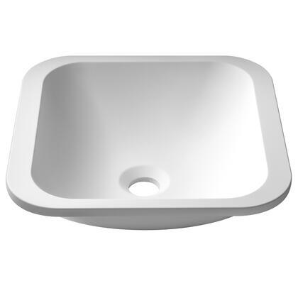 KSU-7MW Natura Square Undermount Composite Bathroom Sink with Matte Finish and Nano Coating in