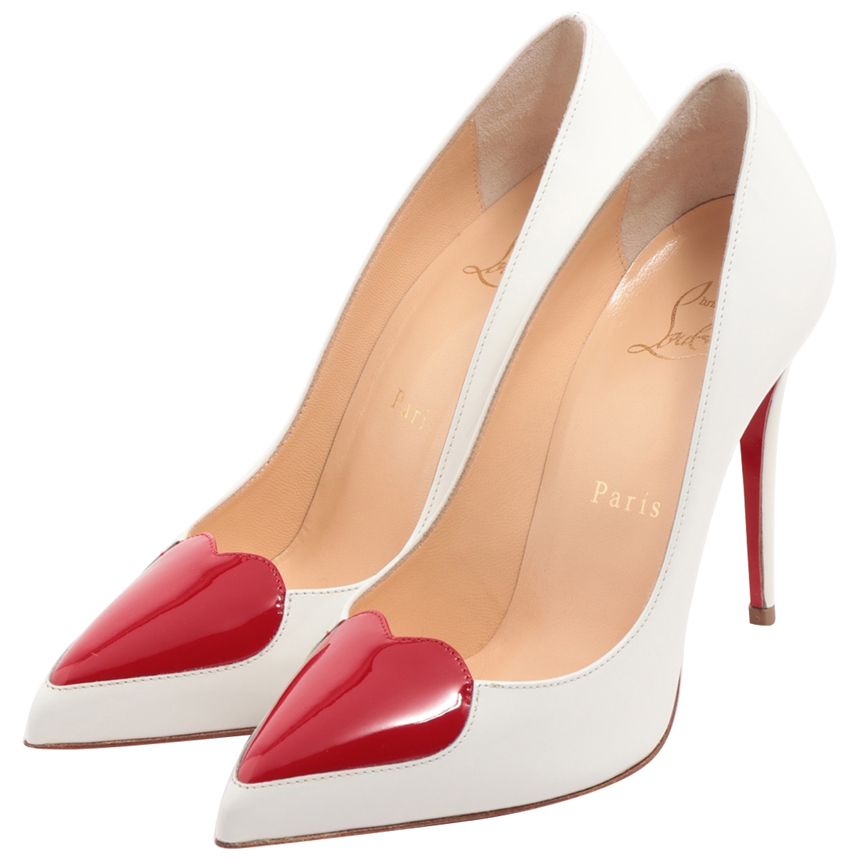 Christian Louboutin \N Pumps in  Weiss Lackleder
