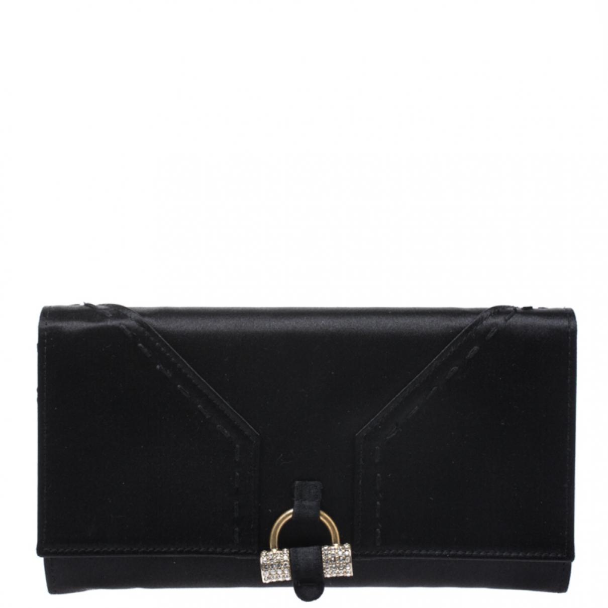 Saint Laurent - Portefeuille   pour femme en cuir - noir