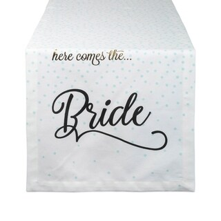 DII Wedding Themed Table Runner (Here Comes The Bride)