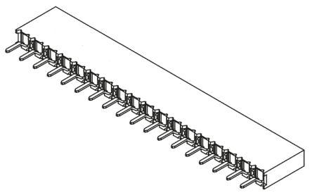 Samtec , BCS 2.54mm Pitch 18 Way 1 Row Straight PCB Socket, Through Hole, Solder Termination