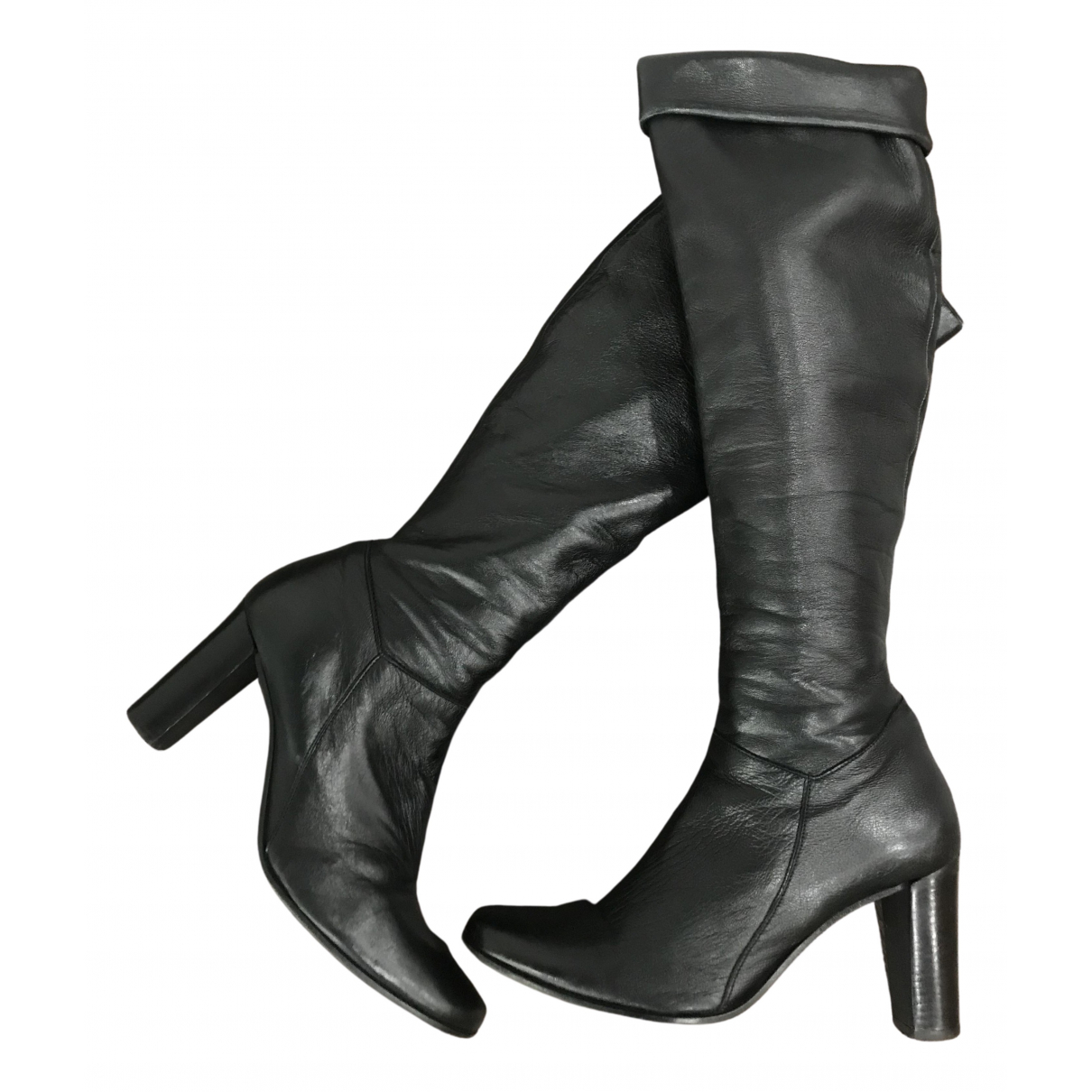 Minelli N Black Leather Boots for Women 40 EU