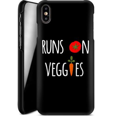 Apple iPhone XS Max Smartphone Huelle - Runs on Veggies von caseable Designs