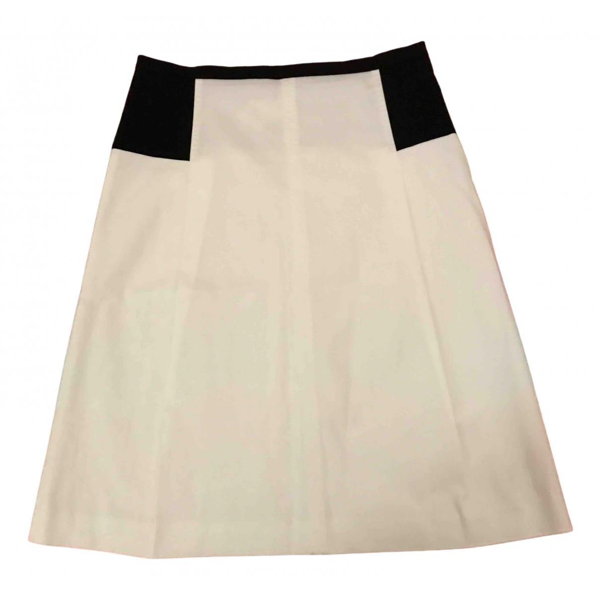 Max Mara Studio \N White Cotton skirt for Women 46 IT