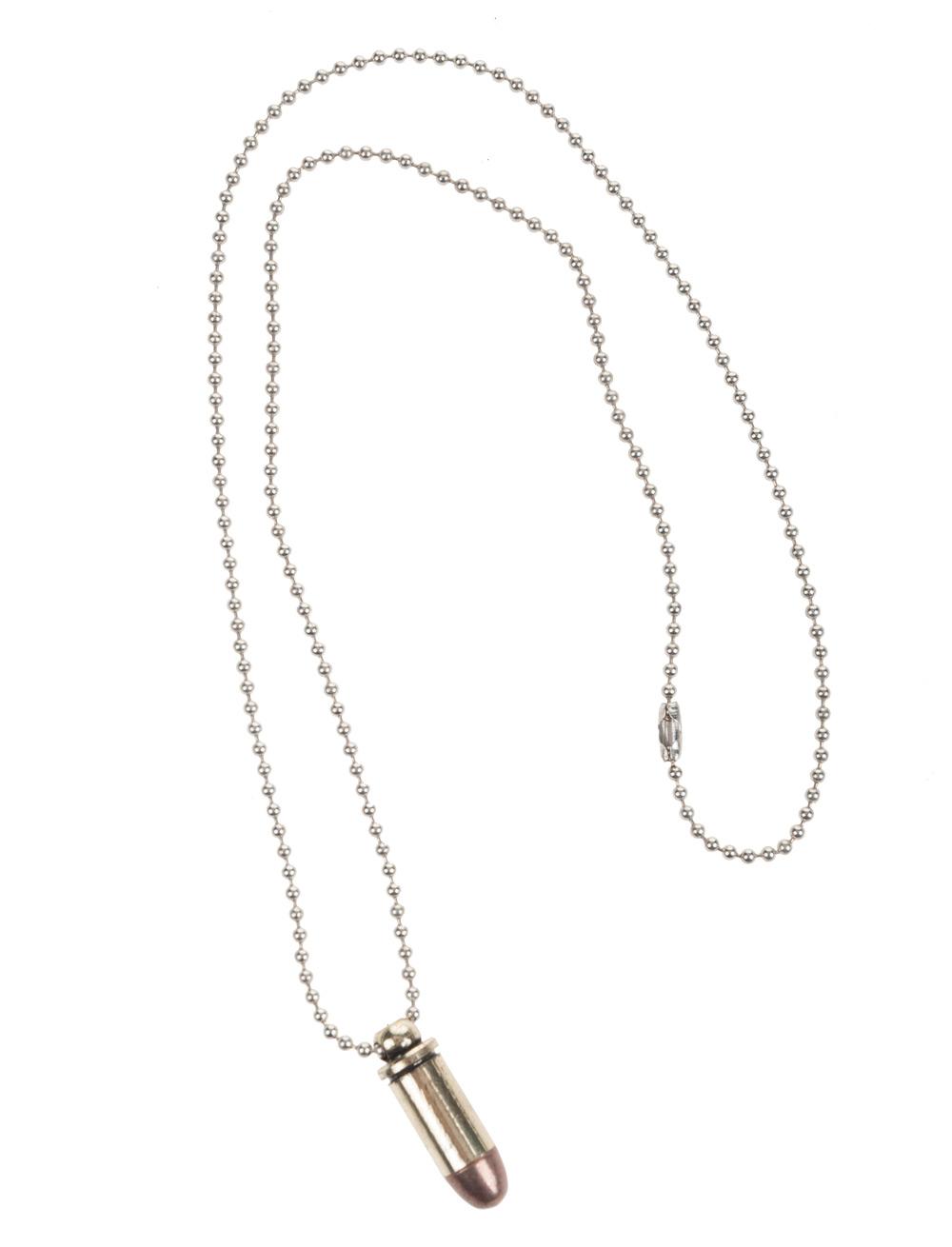 Kostuemzubehor Halskette mit Patrone Farbe: silber