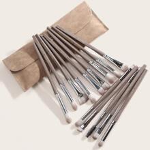 14pcs Eye Makeup Brush With 1pc Storage Bag
