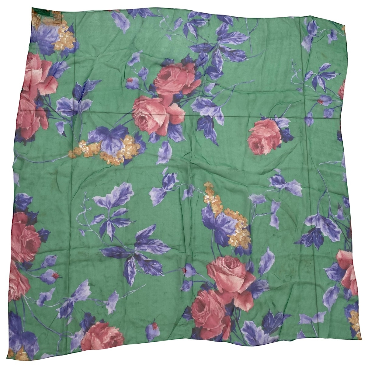 Dolce & Gabbana - Carre   pour femme en soie - vert