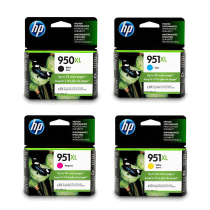 HP 950XL 951XL Original Ink Cartridge Combo High Yield BK/C/M/Y
