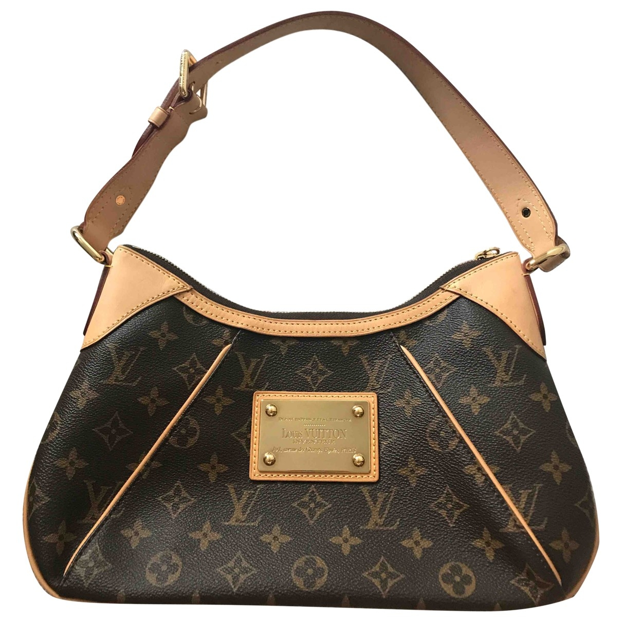 Louis Vuitton Galliera Handtasche in  Braun Leinen