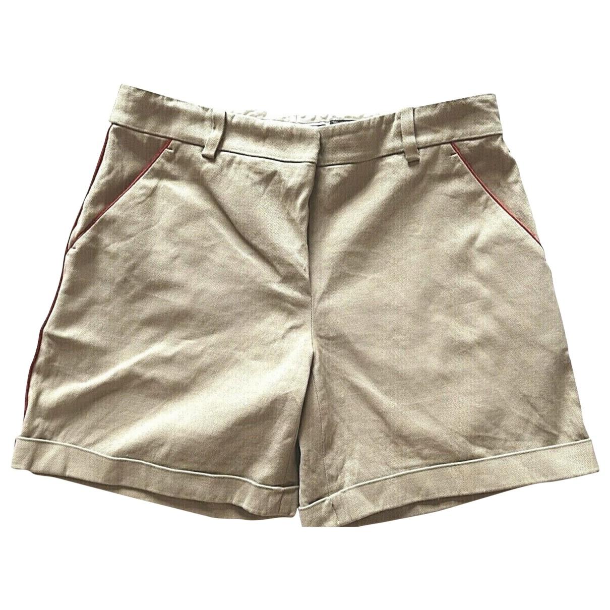 Alexander Mcqueen \N Ecru Cotton Shorts for Women 38 FR