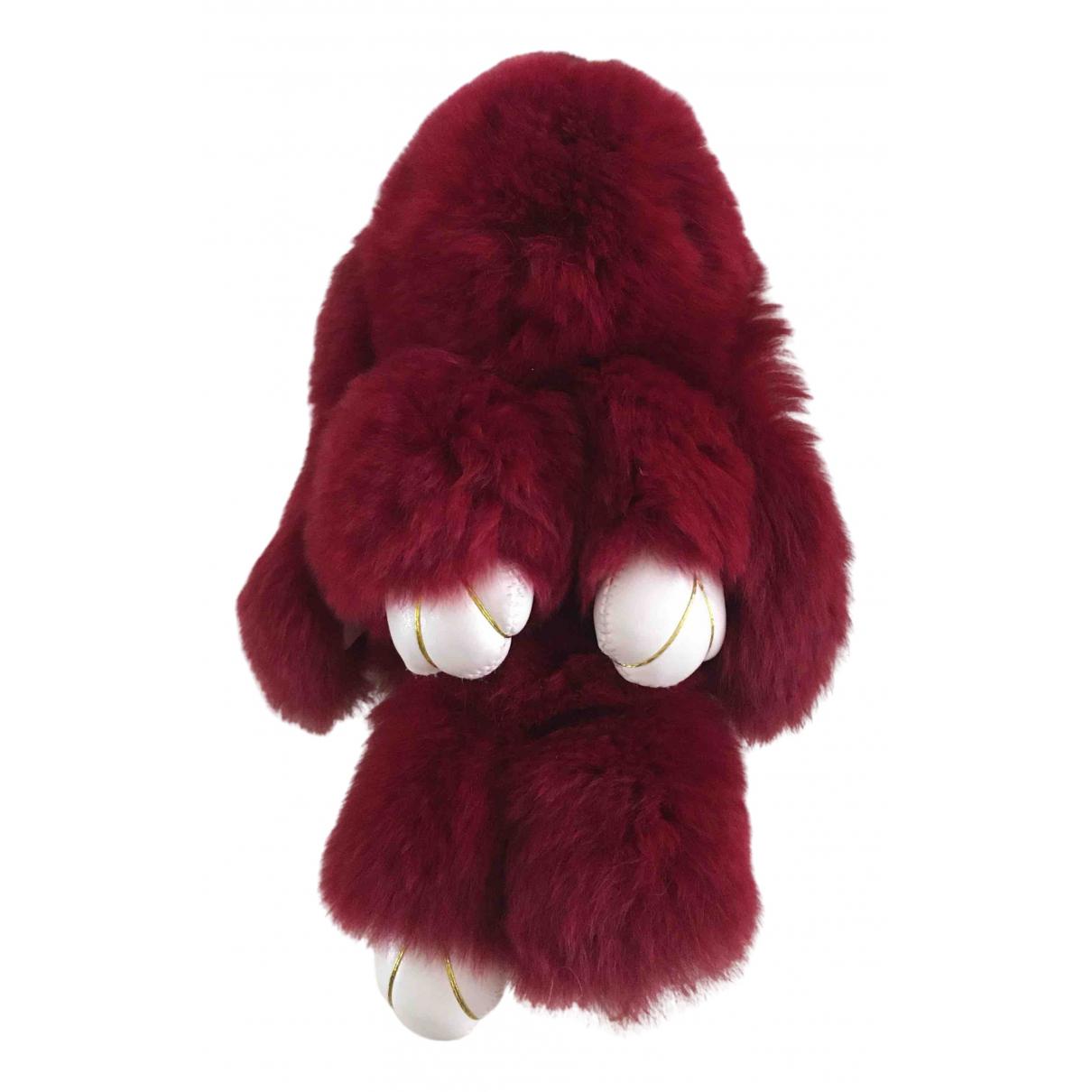 Kopenhagen Fur - Bijoux de sac   pour femme en lapin - bordeaux
