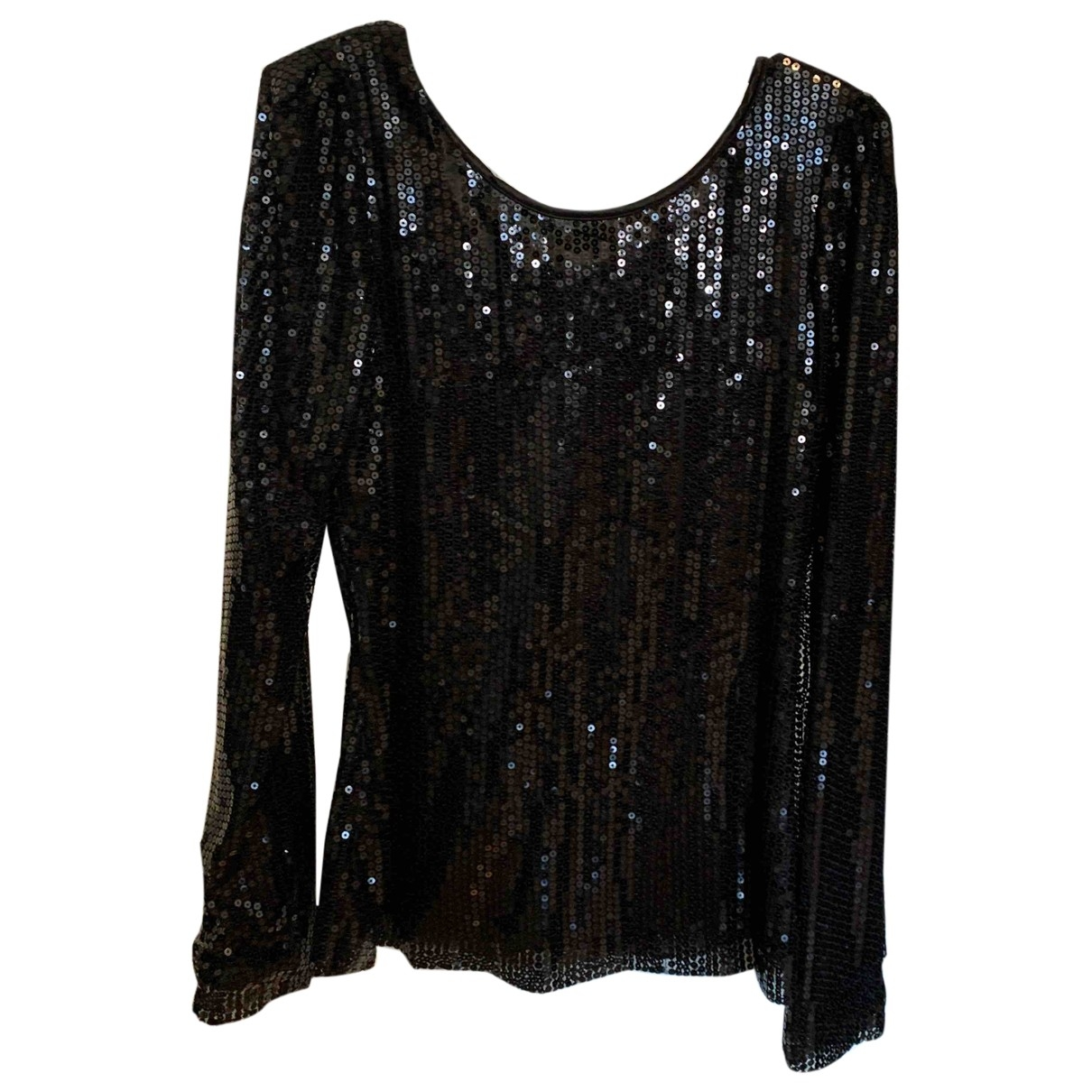 Non Signé / Unsigned \N Black Glitter  top for Women L International