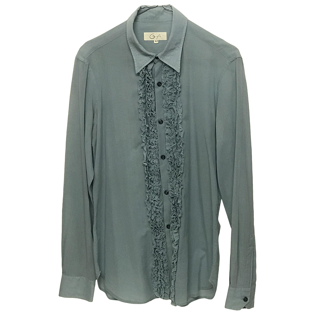 Romeo Gigli \N Turquoise Cotton Shirts for Men M International
