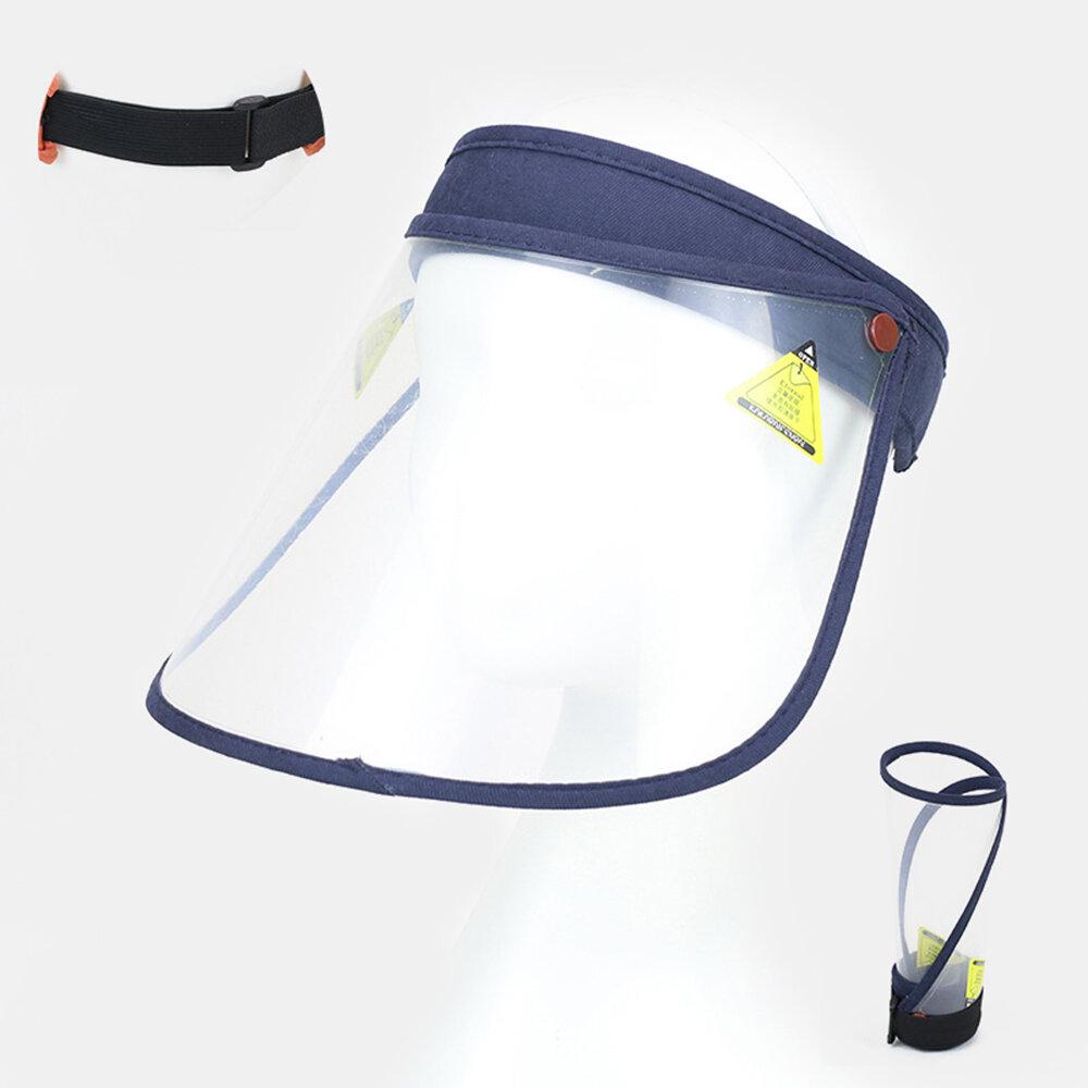 Transparent Dustproof Cap Portable Big Brim Cover Face Hat Empty Top Hat