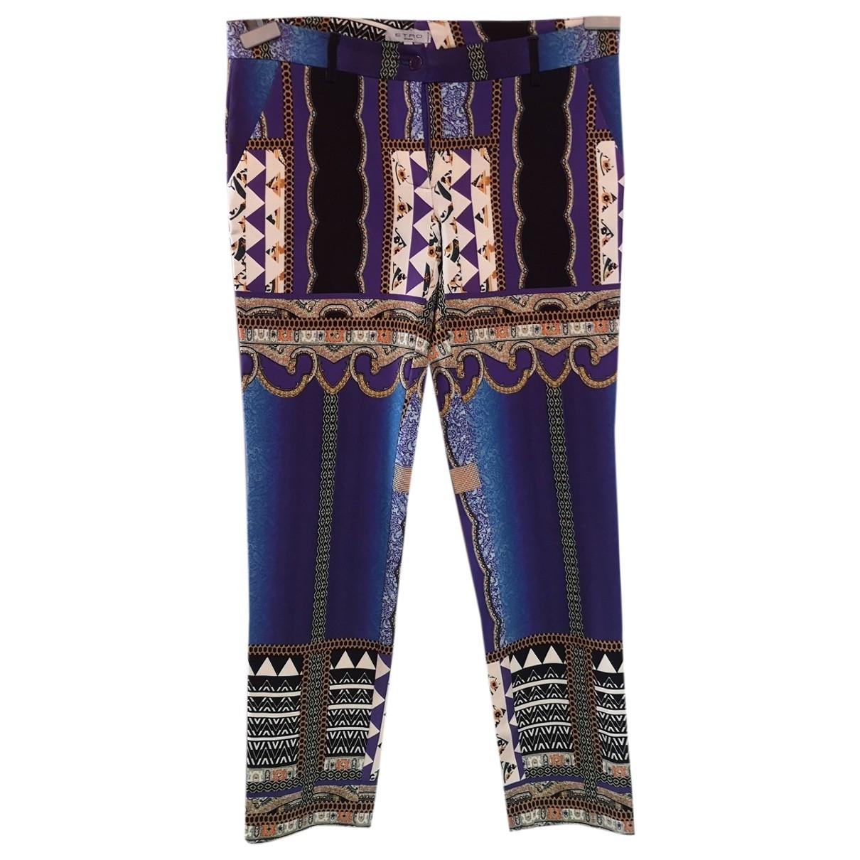 Pantalon en Sintetico Azul Etro