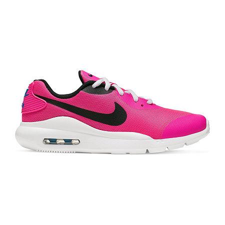 Nike Air Max Oketo Big Kids Girls Running Shoes Lace-up, 3 1/2 Medium, Red