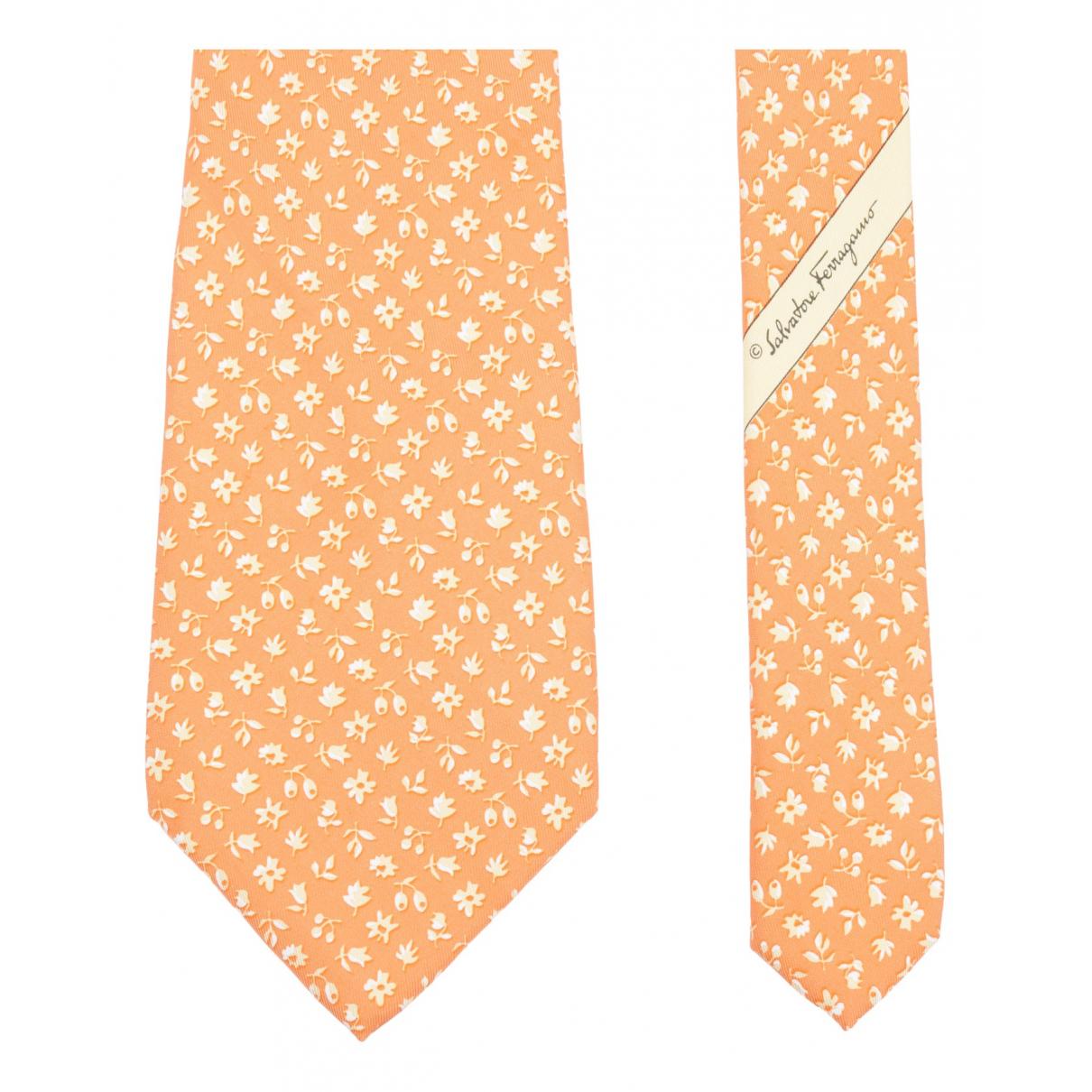Salvatore Ferragamo N Orange Silk Ties for Men N