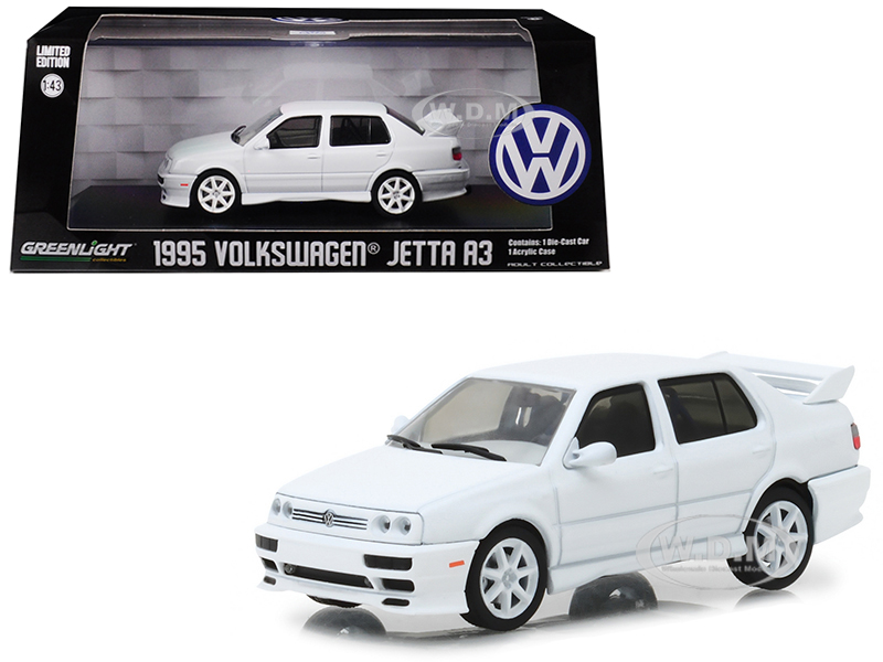 1995 Volkswagen Jetta A3 White 1/43 Diecast Model Car by Greenlight