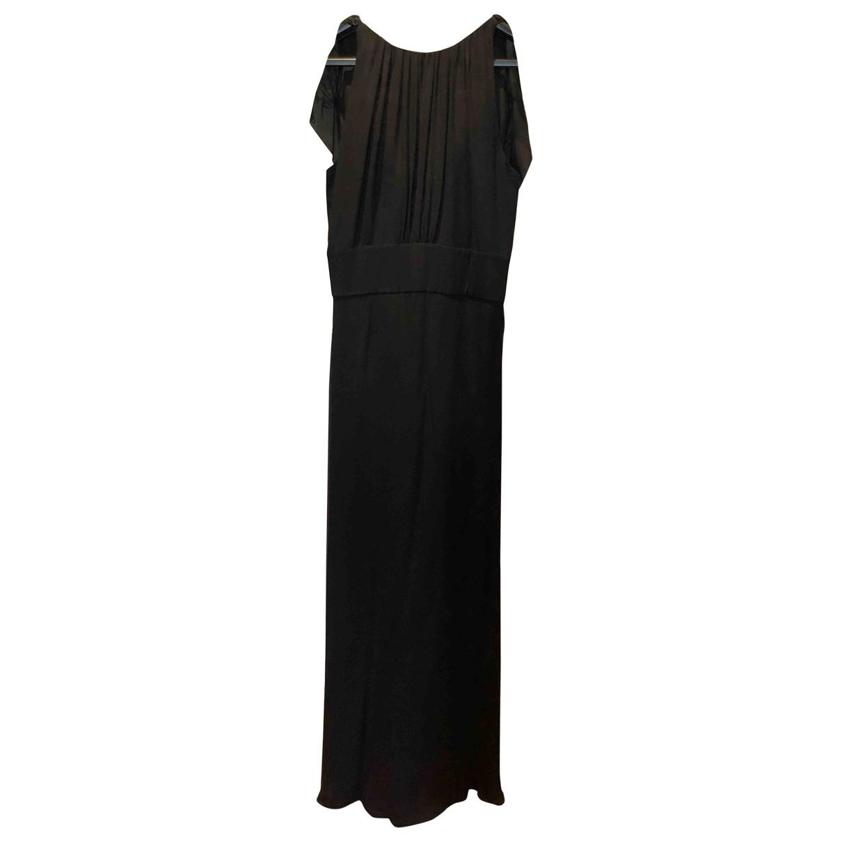 Zapa \N Kleid in  Schwarz Seide