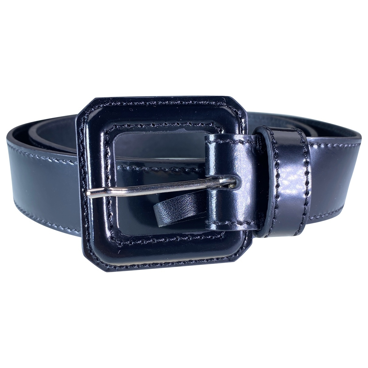 Dior \N Black Patent leather belt for Women 85 cm