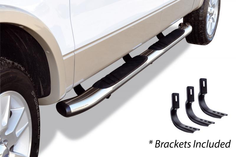 Go Rhino 685435187CC 5 OE Xtreme Composite SideSteps Kit - 87 Long Chrome + Mounting Brackets Nissan Titan 2004-2015