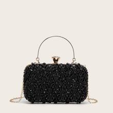 Sequin & Beaded Decor Box Bag