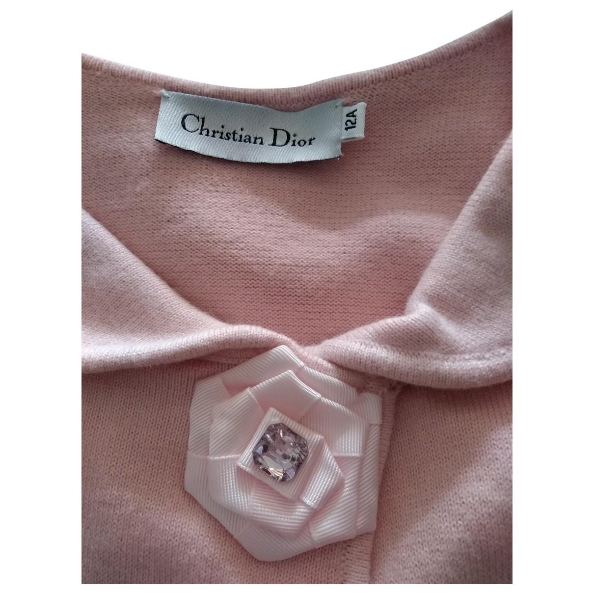 Dior - Pull   pour enfant en coton - rose