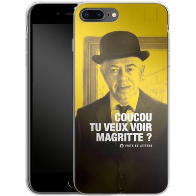 Apple iPhone 7 Plus Silikon Handyhuelle - Tu Veux Voir Magritte von Fists Et Lettres