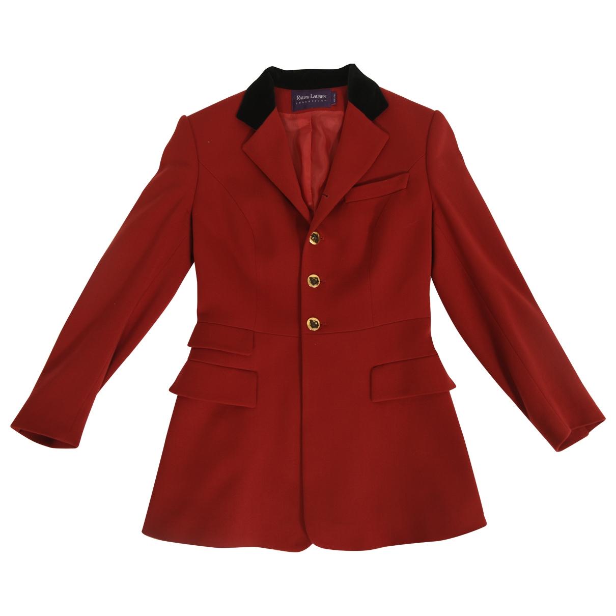 Ralph Lauren - Veste   pour femme en laine - rouge