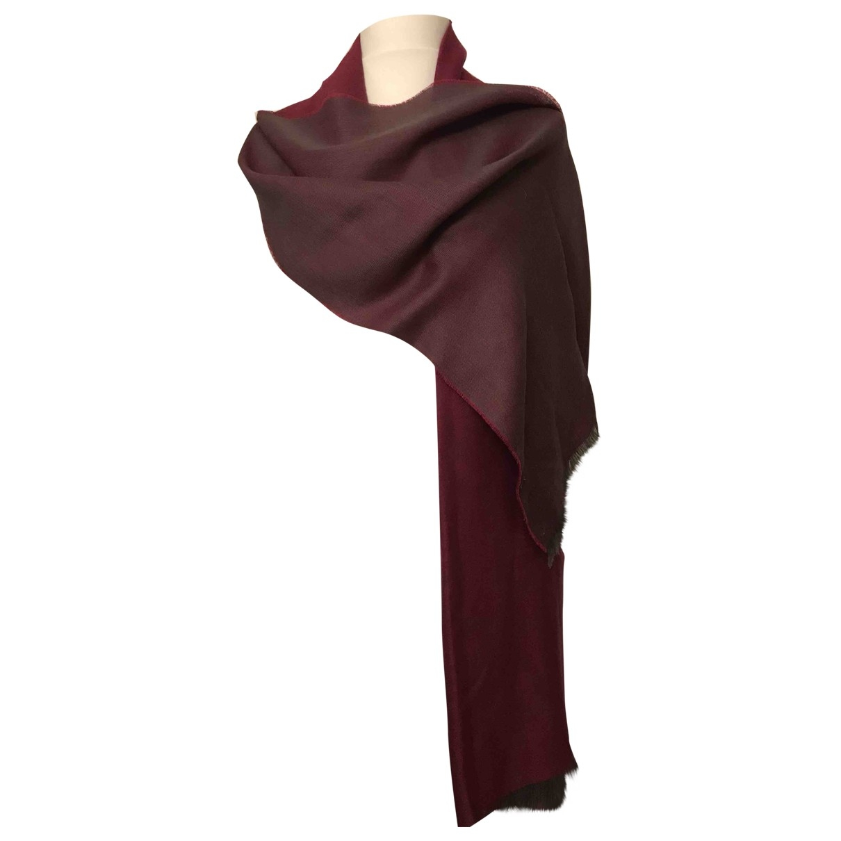 Non Signé / Unsigned \N Burgundy Silk scarf for Women \N