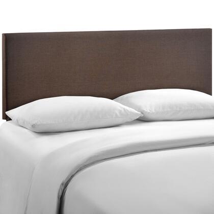 MOD-5211-DBR Region Queen Upholstered Headboard in Dark Brown