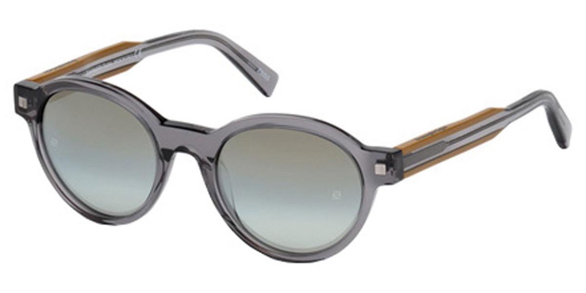 Ermenegildo Zegna EZ0100F Asian Fit 20C Men's Sunglasses Grey Size 52
