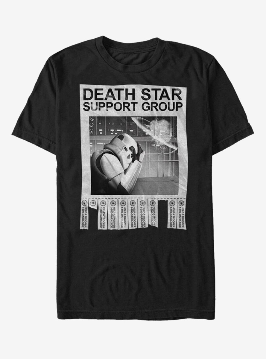 Star Wars Death Star Support Group T-Shirt