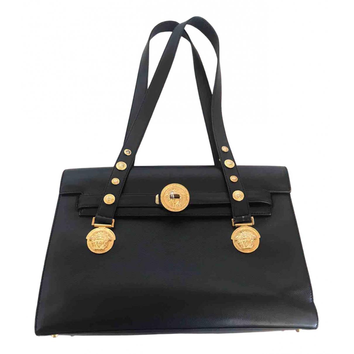 Versace - Sac a main   pour femme en cuir - noir