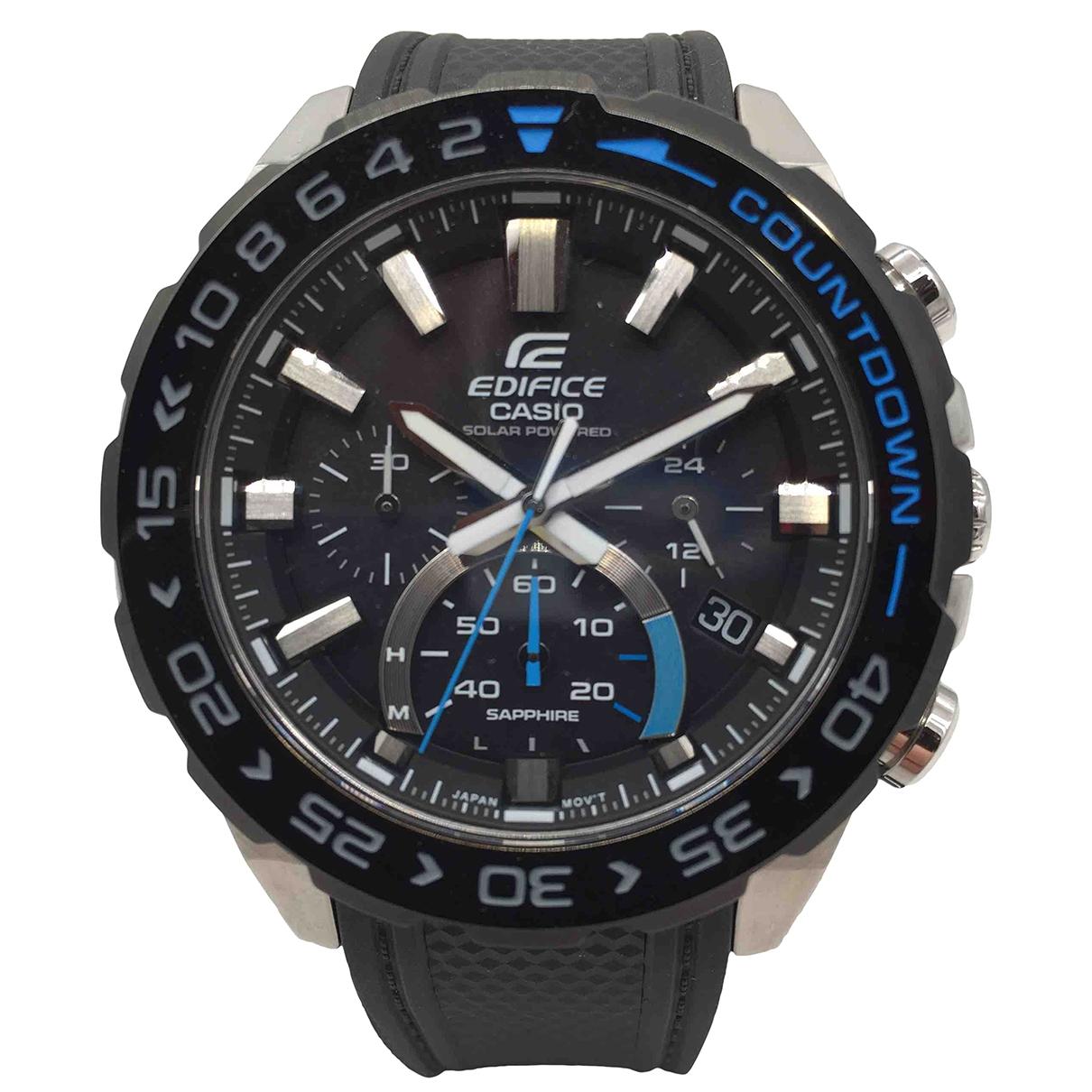 Casio \N Uhr in  Schwarz Stahl