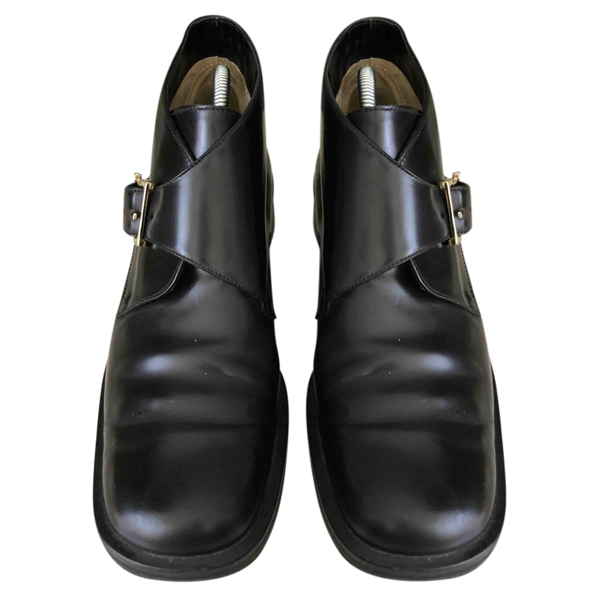 Gucci N Black Leather Ankle boots for Women 35.5 EU