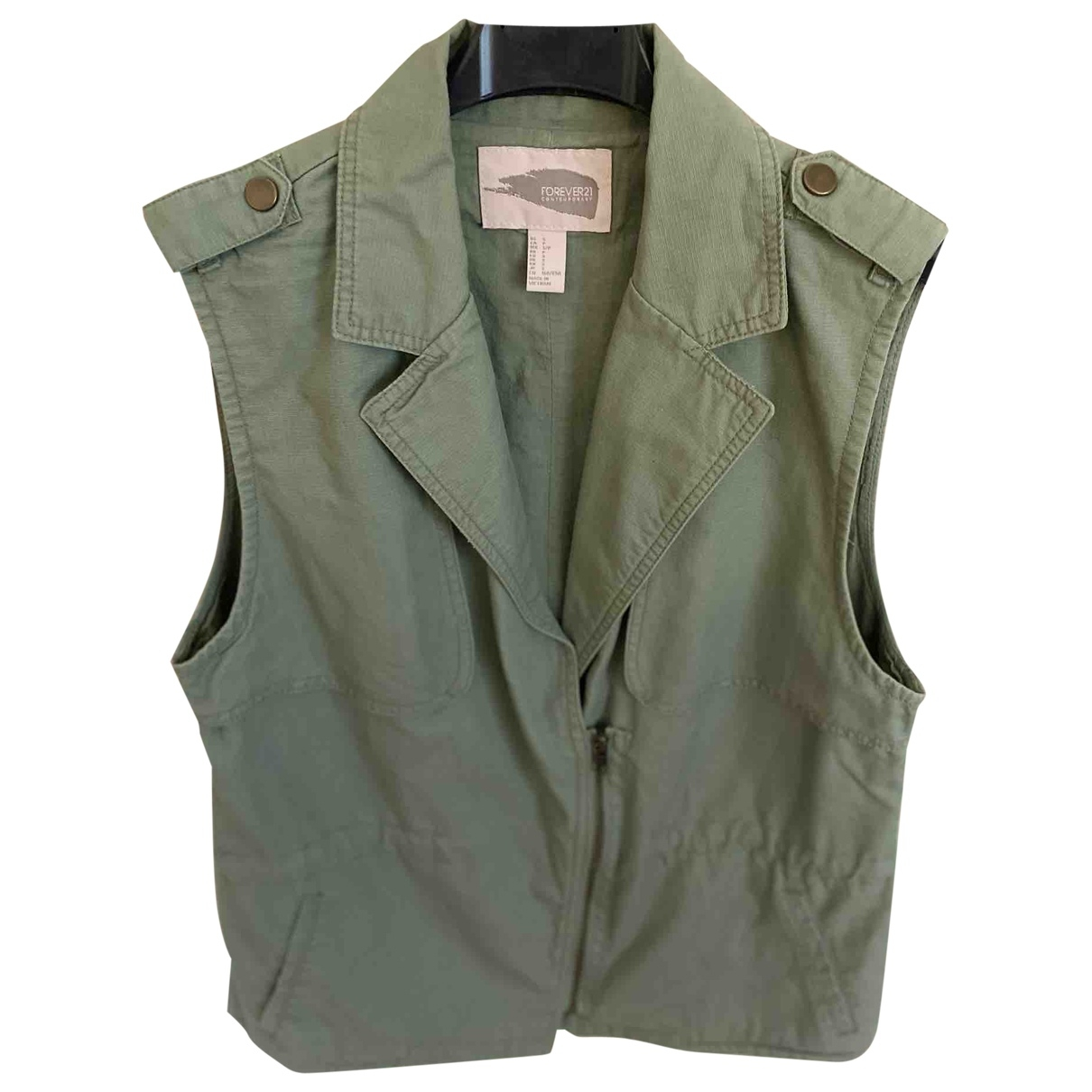 Non Signe / Unsigned Oversize Jacke in  Gruen Baumwolle