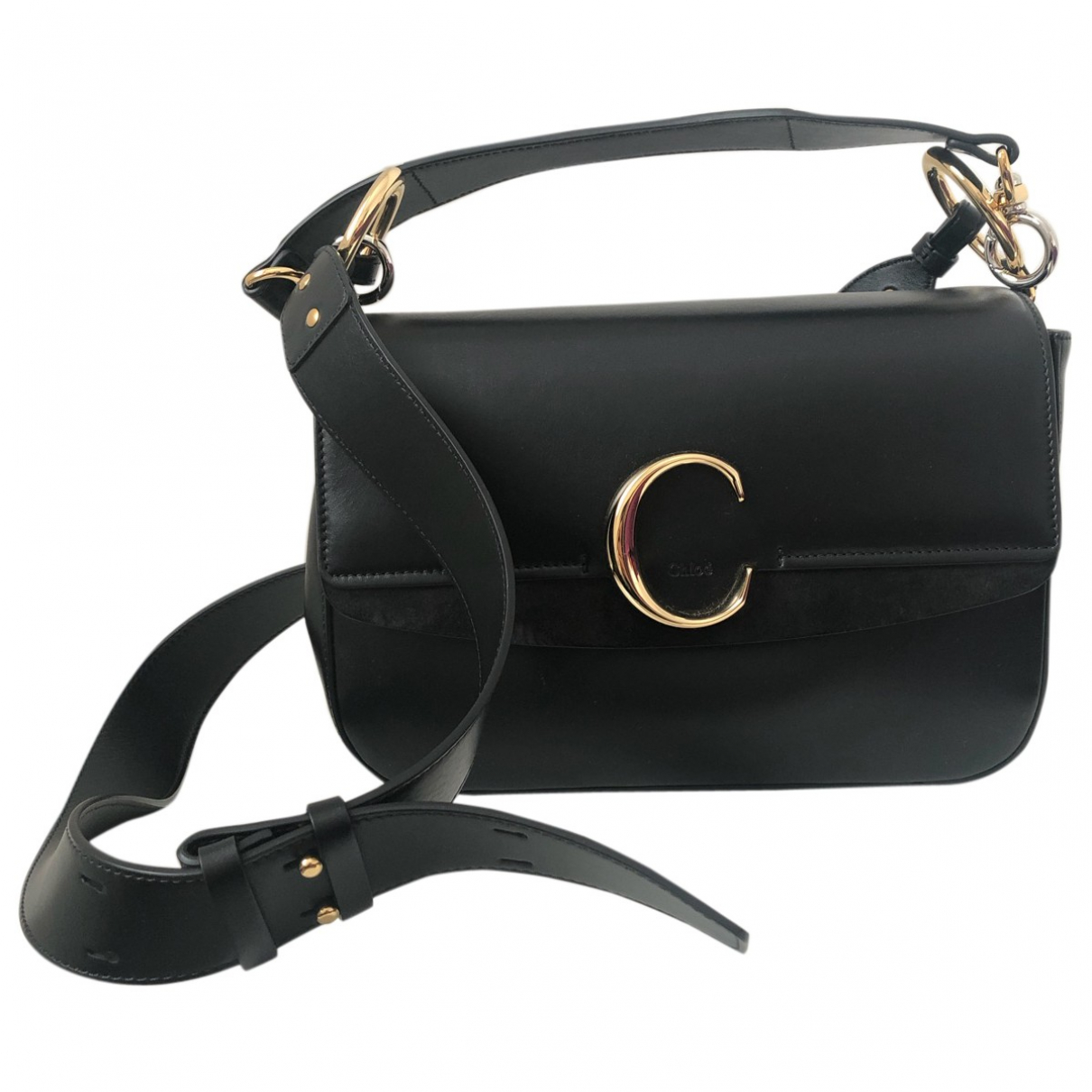 Chloé C Black Leather handbag for Women \N