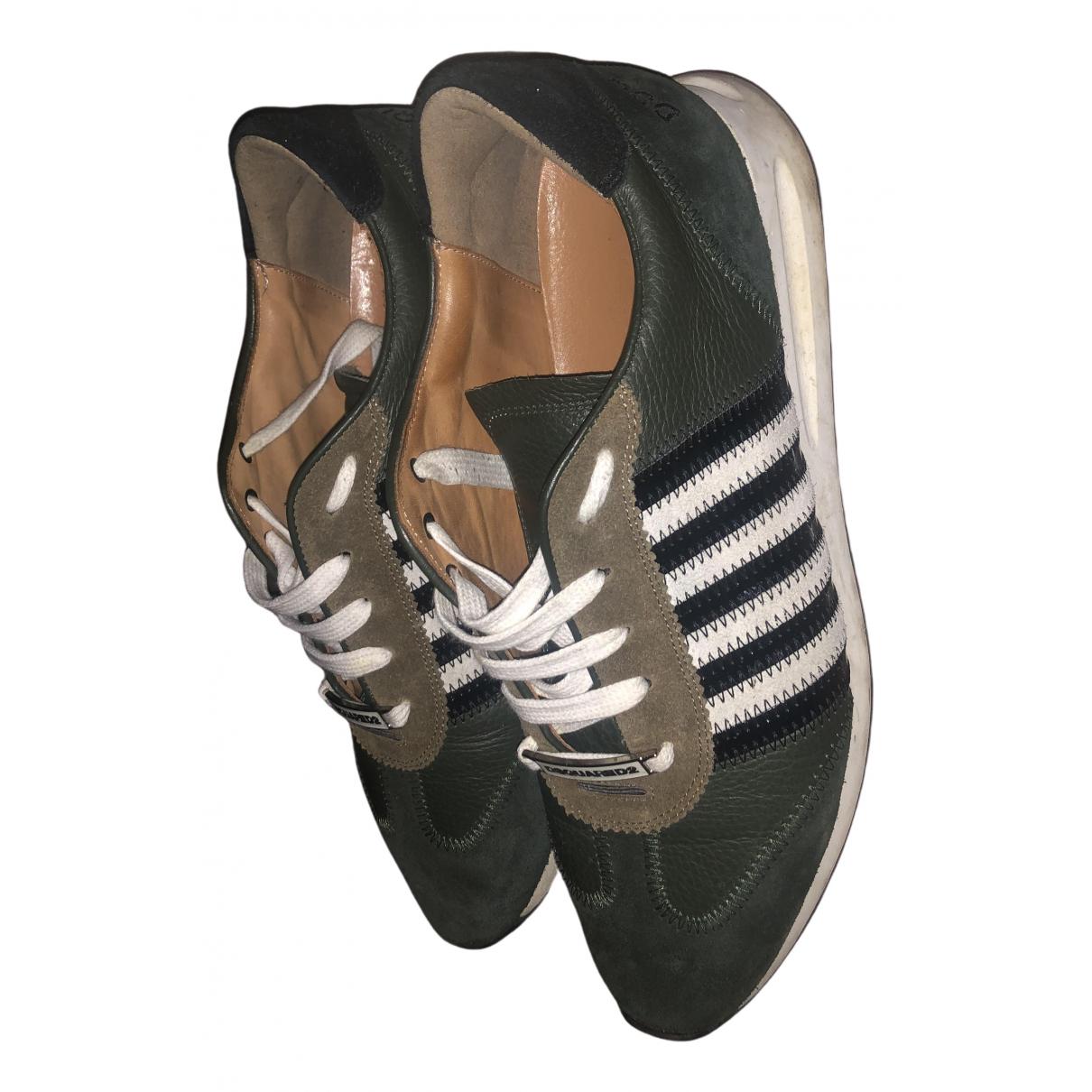 Dsquared2 New Runner Sneakers in  Khaki Leder