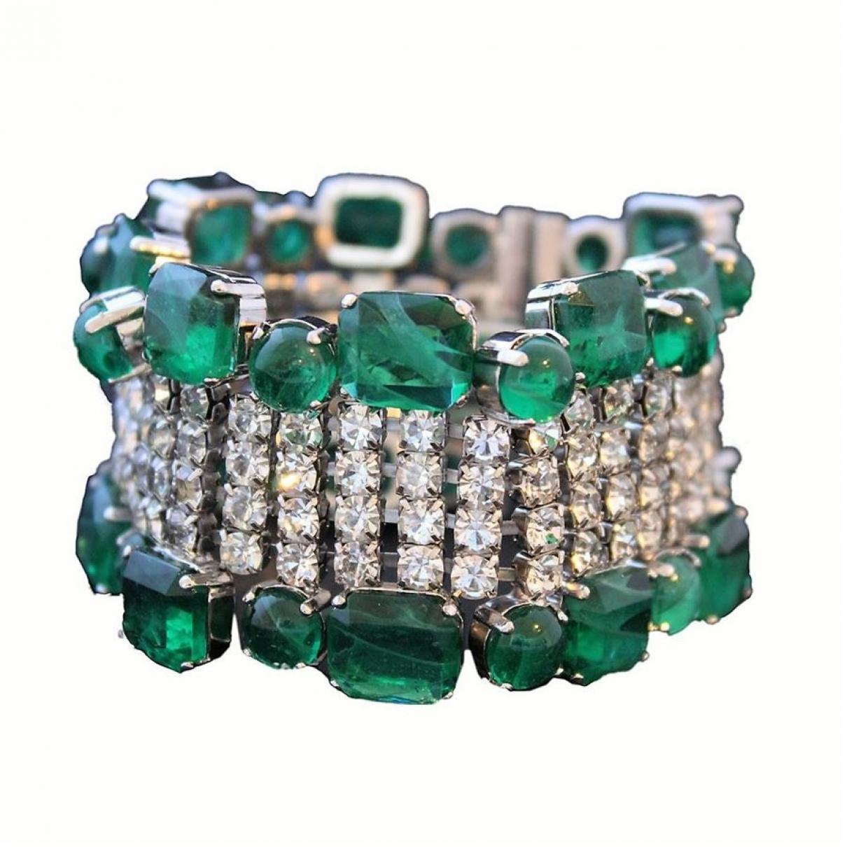 Carlo Zini \N Armband in  Gruen Metall