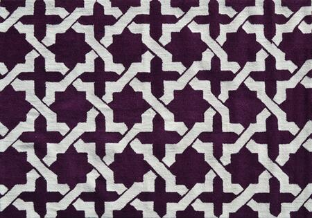 PA0110D 5 x 7 ft. Etchy Area Rug  in Aubergine and