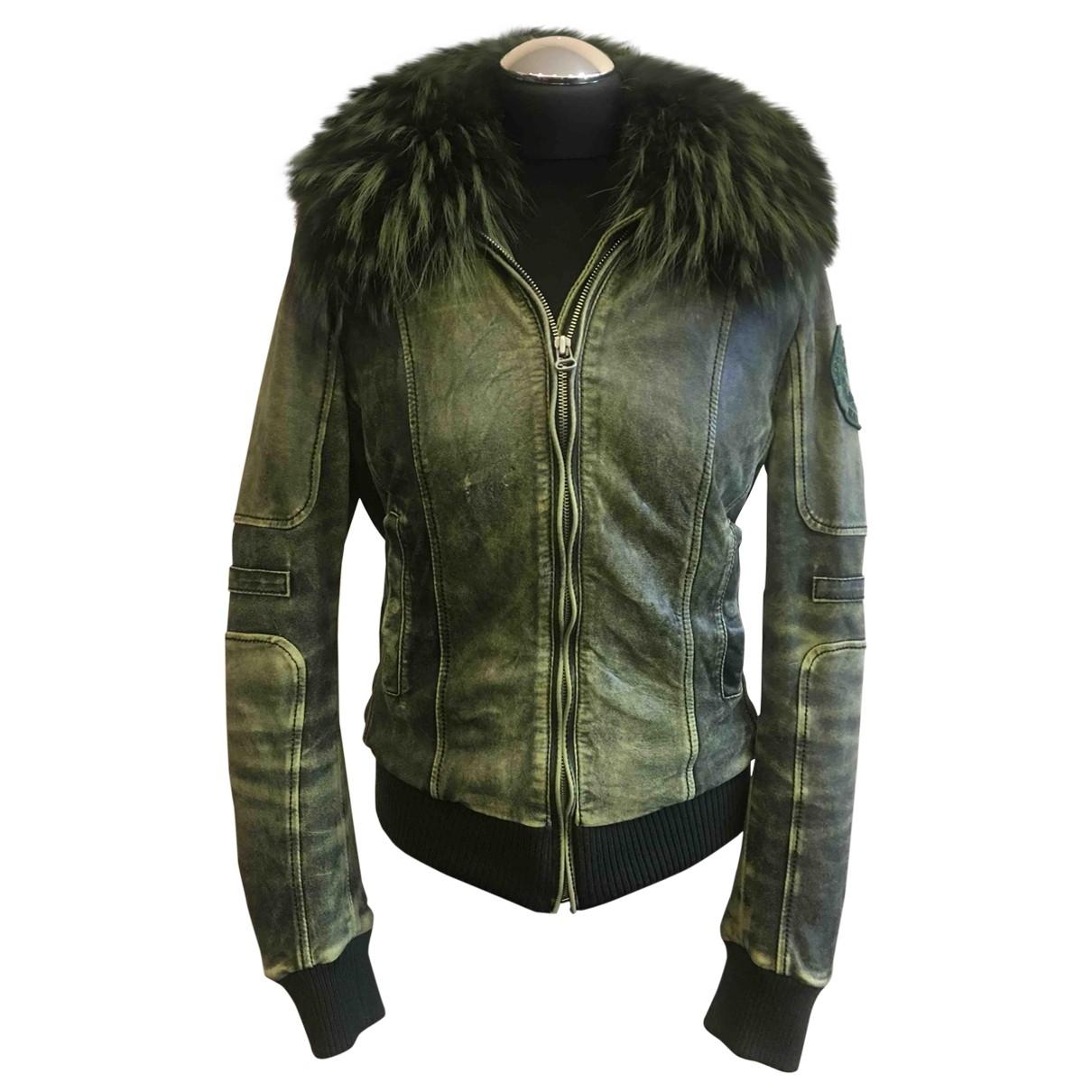 Napapijri \N Green Leather jacket for Women M International