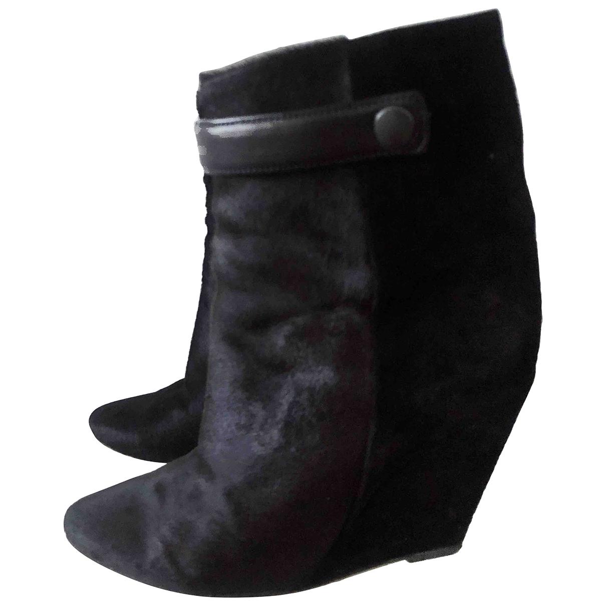 Isabel Marant \N Black Pony-style calfskin Boots for Women 39 EU